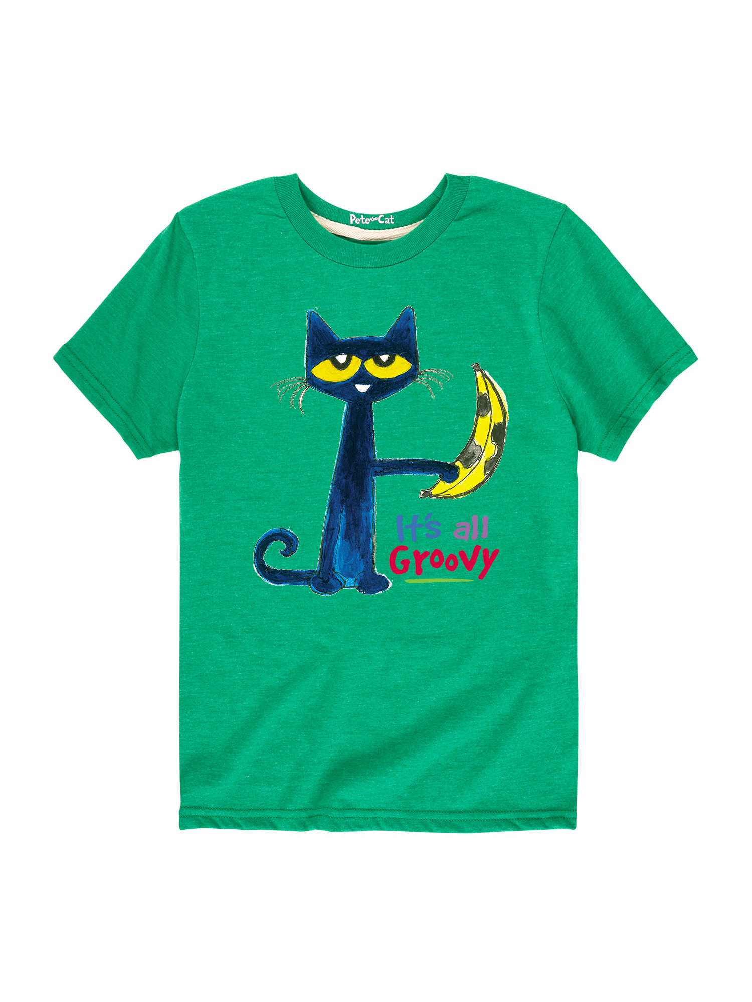 Pete The Cat It's All Groovy  - Toddler Short Sleeve Tee