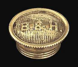 Solid Brass B & H Oil Lamp Filler Cap For B & H Oil Kerosene Lamps, #20032 by B P Lamp