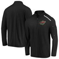 Minnesota Wild Fanatics Branded Authentic Pro Clutch Quarter-Zip Pullover Jacket - Black