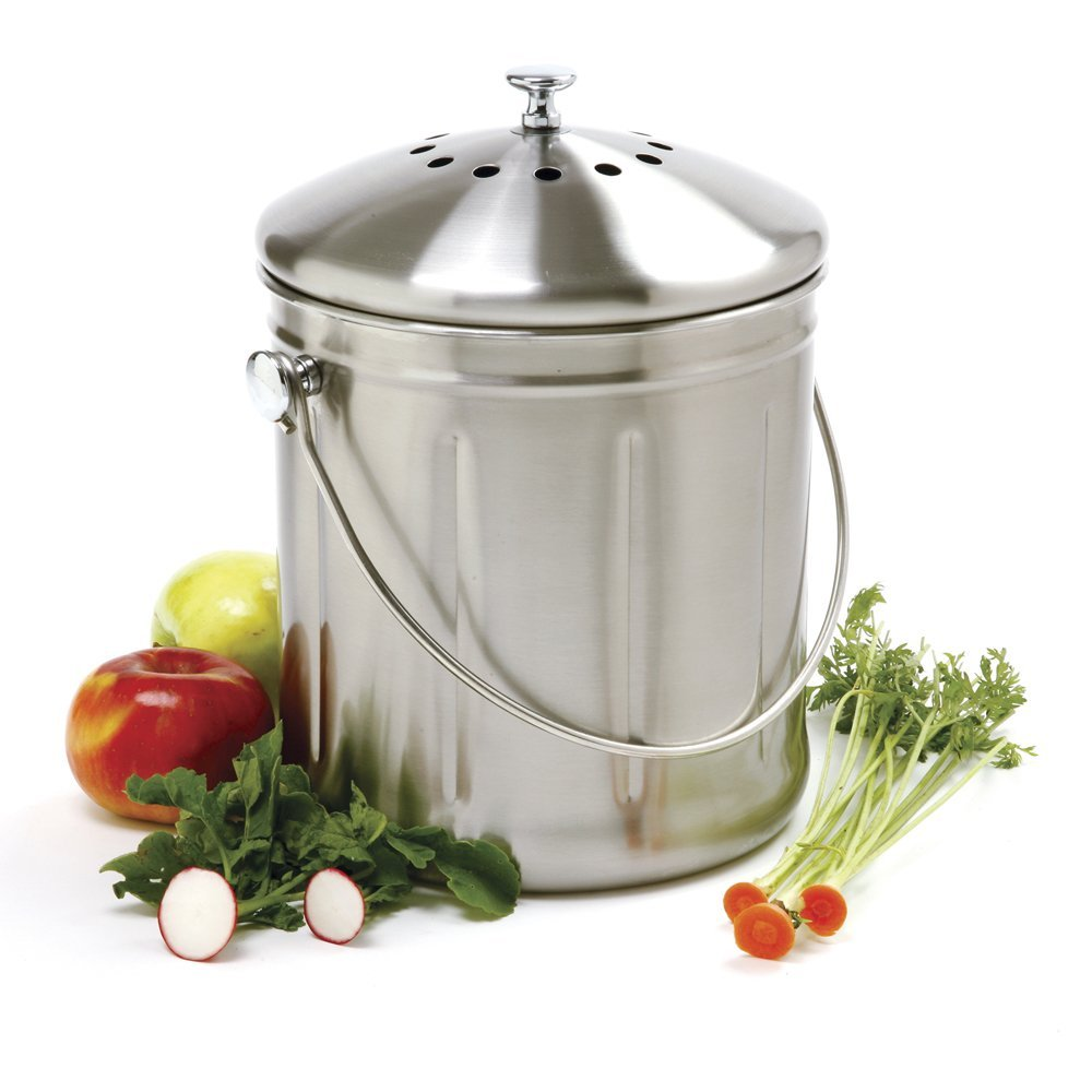 Norpro 1.5 Gallon Stainless Steel Compost Keeper by Norpro