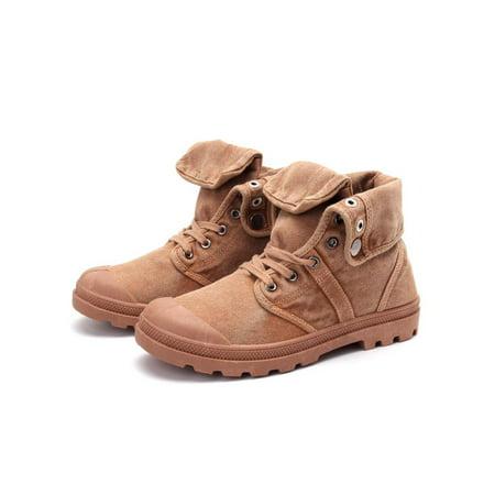 Meigar Winter Men's High Top Canvas Sneaker Mid-Calf Boots -