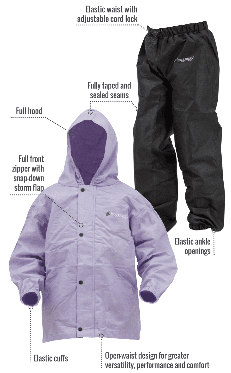 6e78cb3abbd Frogg Toggs Youth Polly Woggs Lightweight Rain Suit - Walmart.com