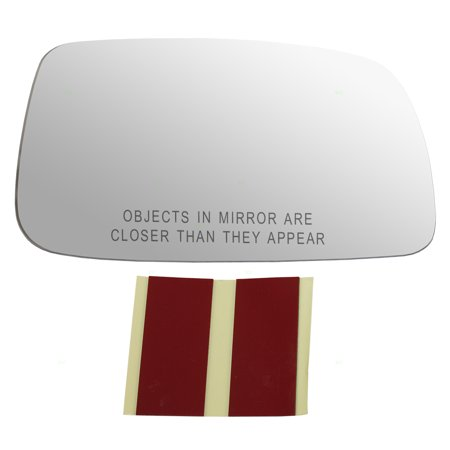 Passengers Side View Mirror Glass w/ Adhesive Strips Replacement for Toyota Camry & Hybrid