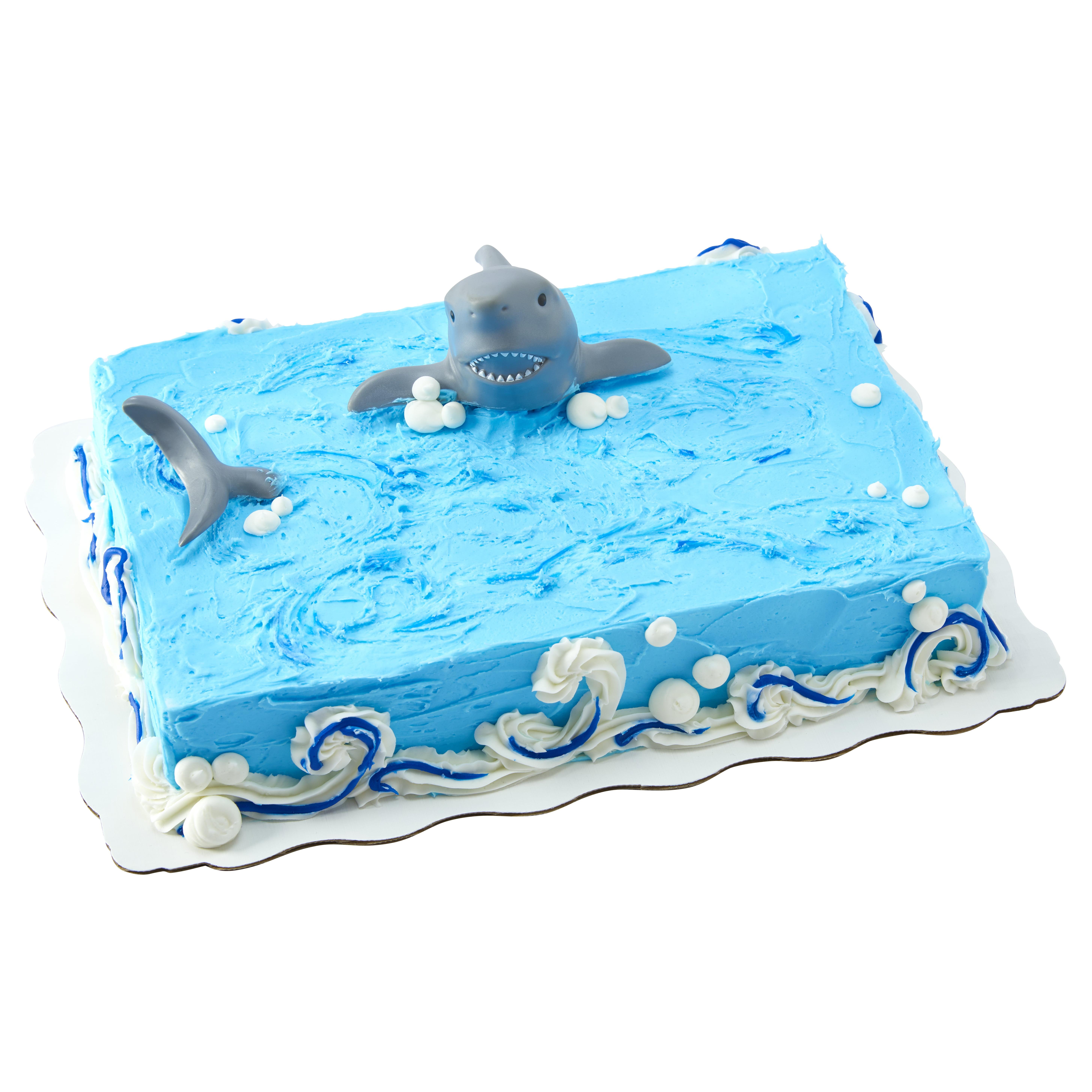 Remarkable Shark Attack Sheet Cake Walmart Com Walmart Com Funny Birthday Cards Online Hetedamsfinfo