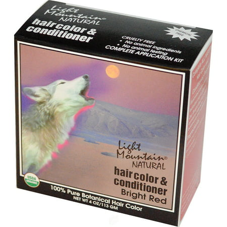 Light Mountain Henna Haircolor Red-Bright 4 Ounce, Pack of 2 ()