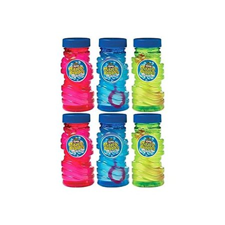 Fun Filled Summer Super Miracle Bubble Makers Party Activity, Assorted Colors, Plastic , 4 Ounces, Pack of 6](Summer Parties)