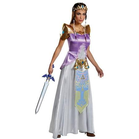 Morris Costumes DG98796B Zelda Deluxe Adult Costume, Size 8-10
