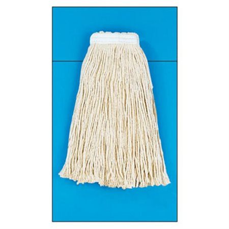 Cotton Fiber Cut-End Mop Head with Value Standard Head in White (Set of 16)
