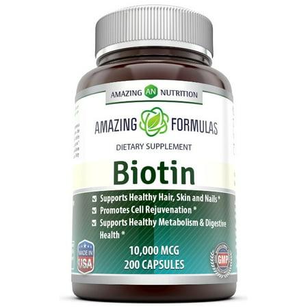 Vita Biotin Crumbles (Amazing Formulas Biotin 10000 Mcg 200 Capsules )