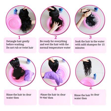 Straight Hair Weave Bundles Deals Double Drawn Raw Unprocessed Virgin Wear - image 3 of 9