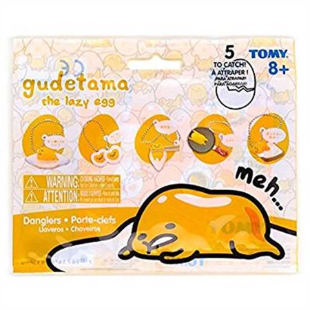 Gudetama the Lazy Egg Dangler Keychain Tomy 1 Blind Bag