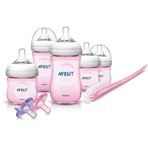 Philips Avent Natural Newborn Baby Bottle Starter Set, Pink, BPA-Free