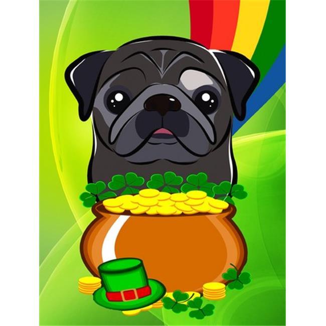 Black Pug St. Patricks Day Flag Garden - image 1 of 1