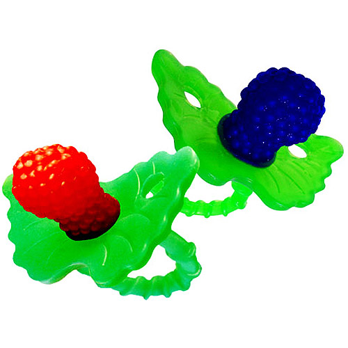 RazBaby - Hands-Free Silicone Teething Pacifier, 2-Pack