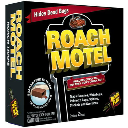 4 Pack Black Flag Roach Motel Cockroach Killer Bait Covered Glue Traps 2 Ct Each - Giant Cockroach