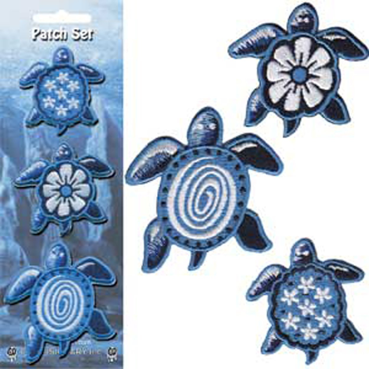 Patch - Animals - Blue Turtles Iron On Gifts New Licensed p-3673-s