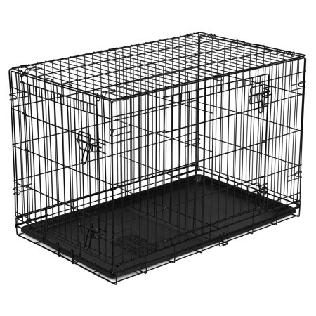 Vibrant Life Double Door Folding Dog Training Kennel With