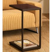 A Line Furniture Ellie Contemporary Dark Brown Snack Side Table