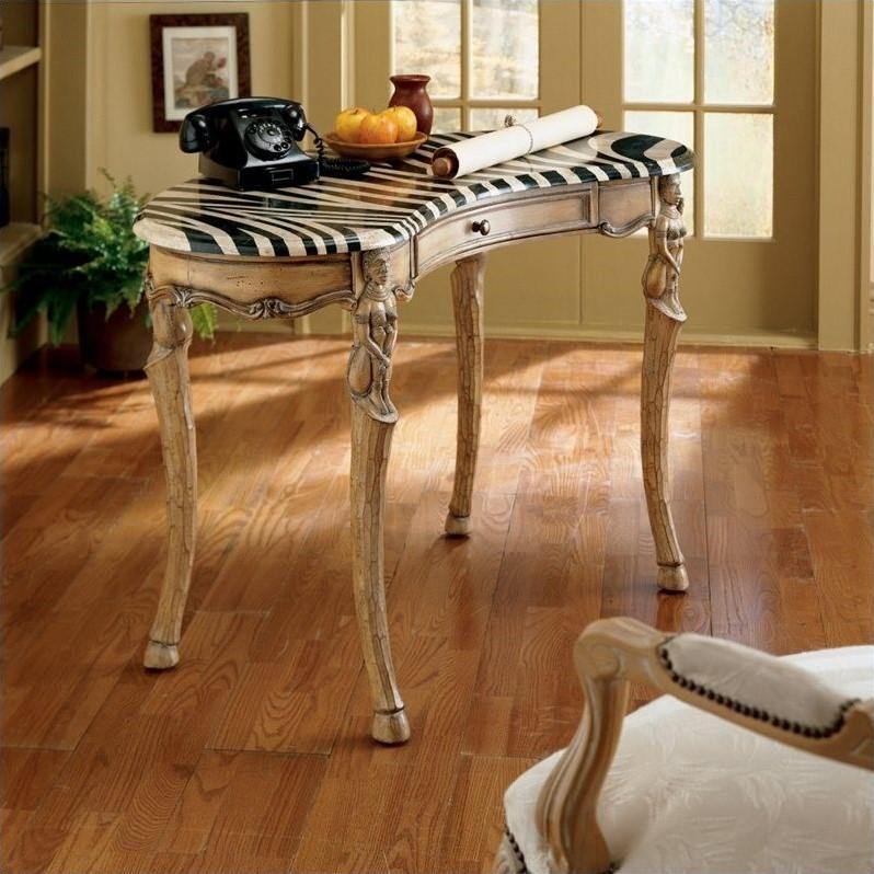 Butler Specialty Heritage Zebra Wood Writing Desk in Light Wood by Butler
