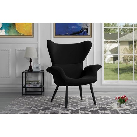 Contemporary Velvet Accent Armchair, Futuristic Style Living Room Chair  (Black) - Walmart.com