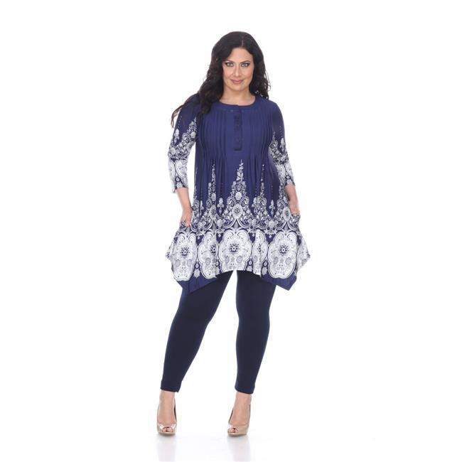 192de5e1f75 White Mark PS1326-41-1XL Womens Plus Size Dulce Tunic Top