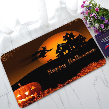 GCKG Halloween Pumpkin Non-Slip Doormat Indoor/Outdoor/Bathroom Doormat 30 x 18 Inches (Halloween Math)