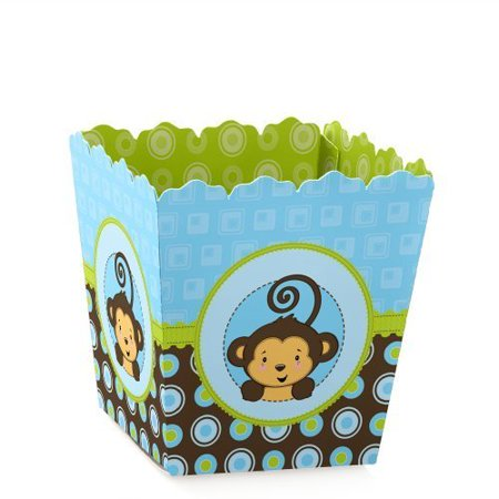 Monkey Boy - Party Mini Favor Boxes - Baby Shower or Birthday Party Treat Candy Boxes - Set of 12 ()