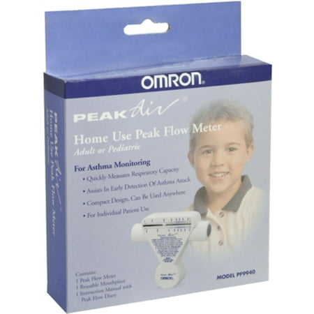 Omron Peak Air Peak Flow Meter Home Use PF9940 1 Each