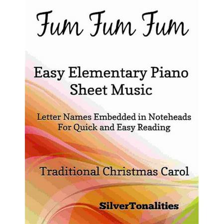 Fum Fum Fum Easy Elementary Piano Sheet Music - eBook](Halloween Elementary Music Class)