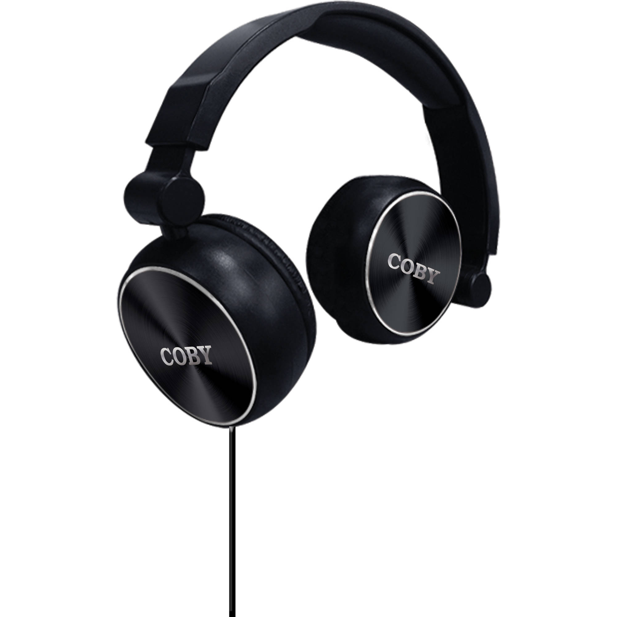 Coby Aluminum Foldz Headphones with Built-in Microphone