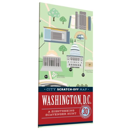City scratch-off map: washington, d.c.: a sightseeing scavenger hunt: 9781452149974