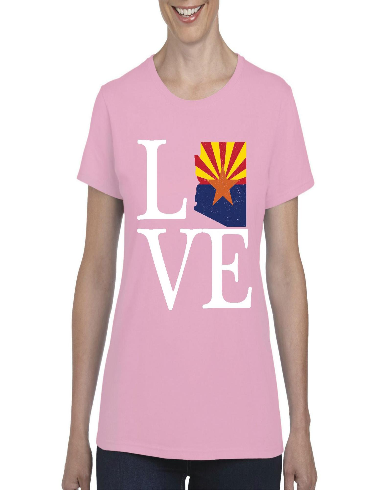 Love Arizona  Women Shirts T-Shirt Tee