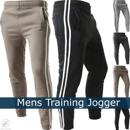 Nike Athletic Track Pants - WP Mens STRIPE JOGGERS Lightweight Training Sweatpants Fleece Casual Elastic Athletic Activewear 1WPE0001