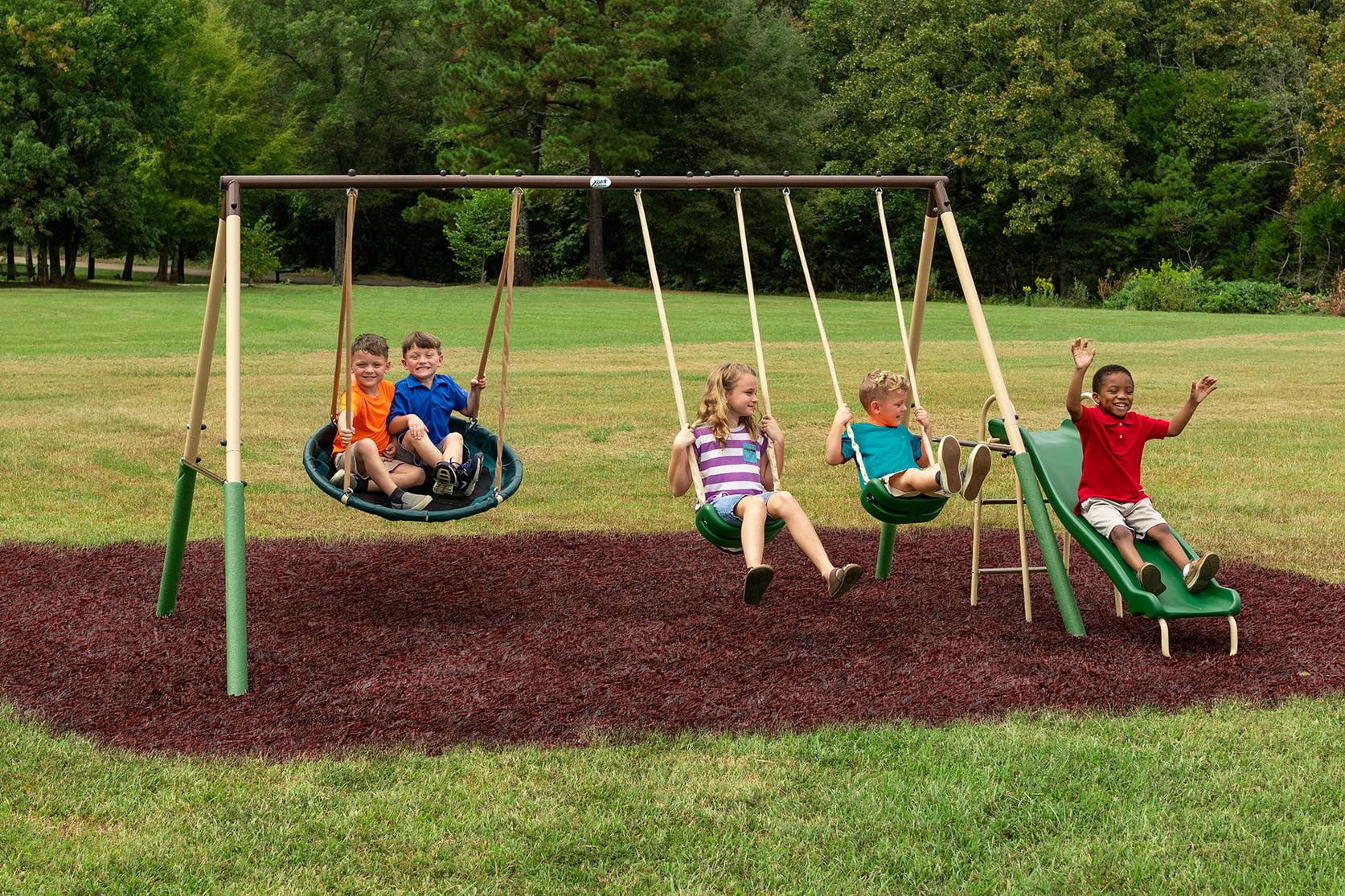 ihocon: XDP Recreation Super Disc Swing Metal Swing Set 兒童鞦韆滑梯
