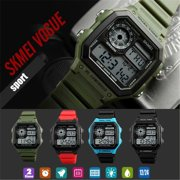 SKMEI Mens Digital Watches Waterproof Electronic Watches For Men,Army Green