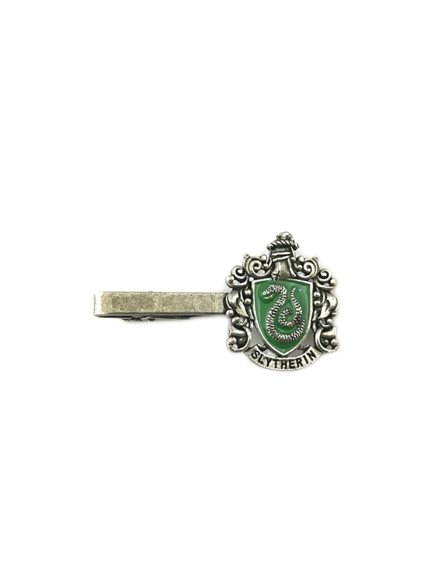 Harry Potter Slytherin Crest Silver Tone Tie Bar w/Gift Box By Superheroes