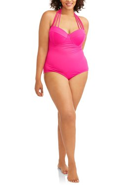 642a2de423 Product Image Women s Plus-Size Maillot w  Convertible Straps One-Piece  Swimsuit. Product Variants Selector. Pink