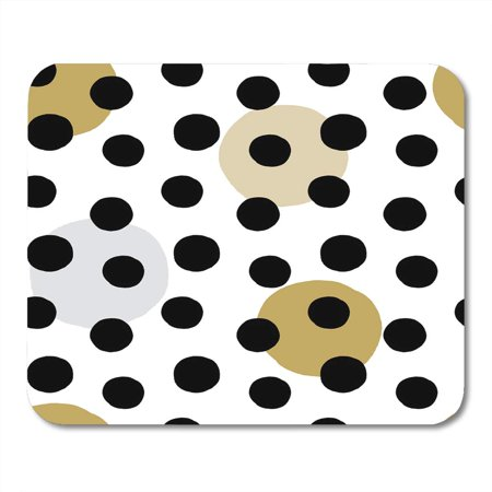LADDKE Abstract Gray Hand Large Circles Pattern with Black Ink Design White Small Brush Mousepad Mouse Pad Mouse Mat 9x10