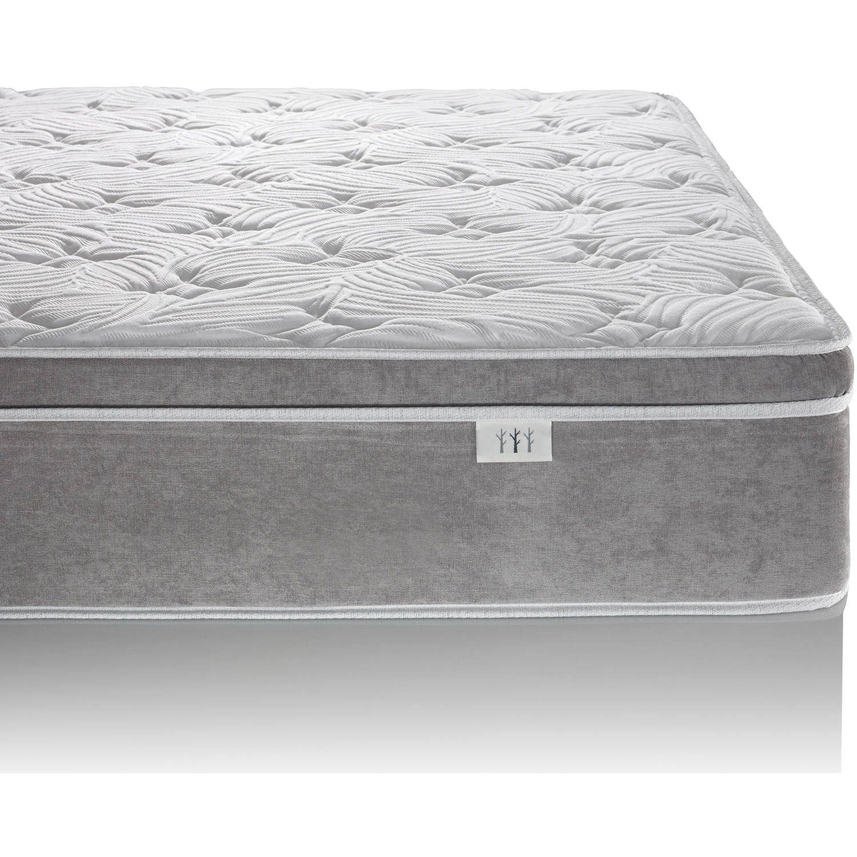 brentwood home posture plus hybrid eurotop gel infused memory foam and innerspring mattress walmartcom - Brentwood Mattress