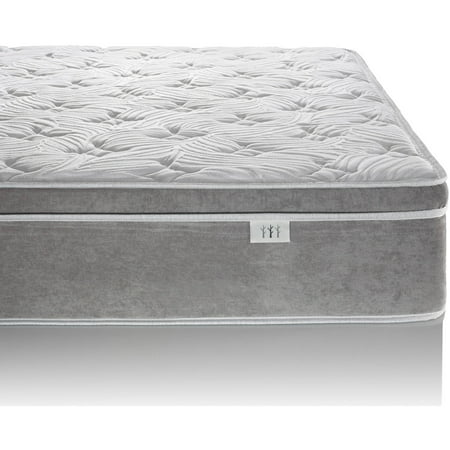 Brentwood Home Posture Plus Hybrid Eurotop Gel Infused Memory Foam and Innerspring