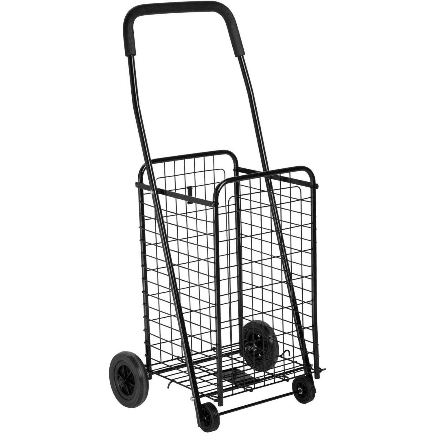 Honey Can Do Steel Folding 4-Wheel Utility Rolling Cart, Black ...