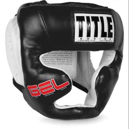 Title Gel World Full Face Training Headgear-Black-Large