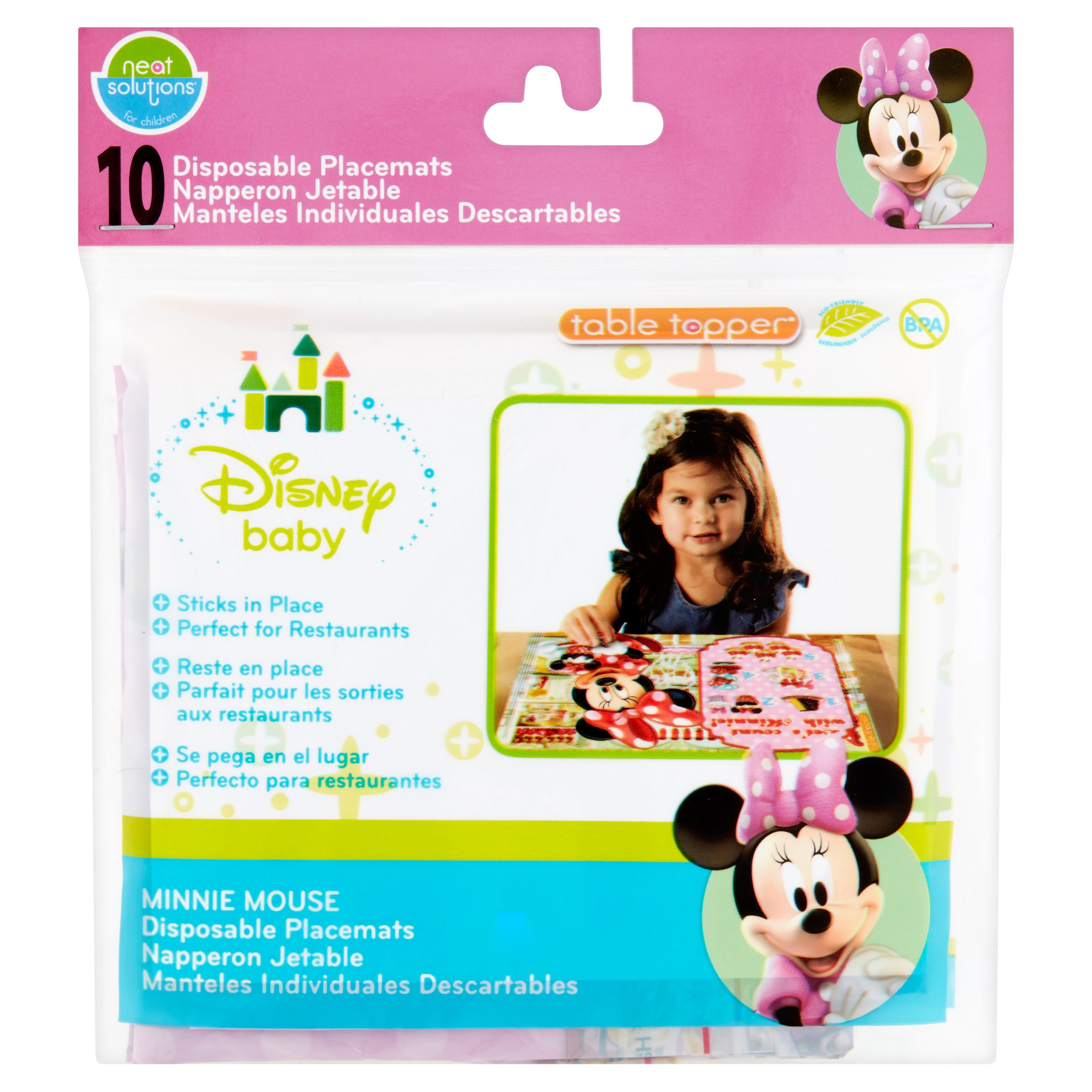 Neat Solutions for Children Disney Baby Table Topper Disposable Placemats, 10 count