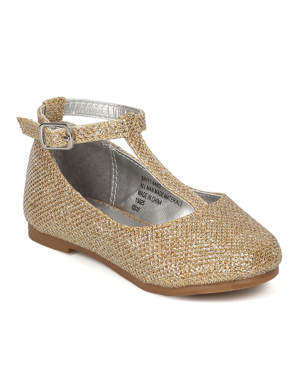 c75afbdc231c Little Angel CE77 Glitter Round Toe Mary Jane T-Strap Ballerina Flat ...