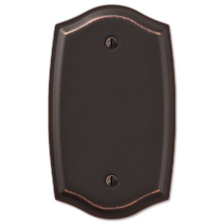 Single Blank Switch Plate Outlet Cover Rocker Toggle Light Wall Plate - Oil Rubbed Bronze