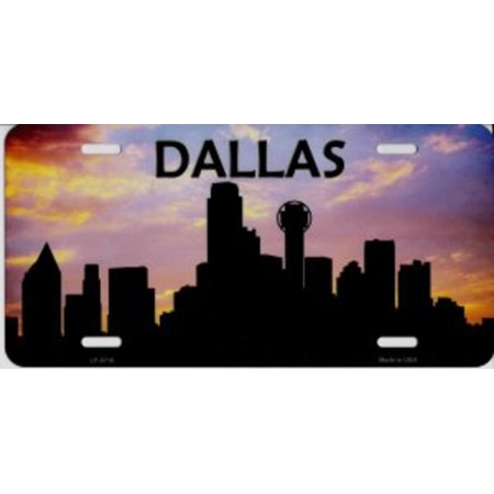 dallas skyline silhouette metal license plate walmart com