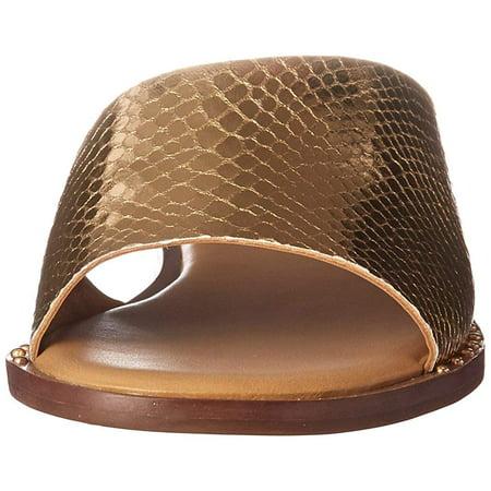 da8ad4317cd2 Franco Sarto Womens L-Rye Leather Open Toe Casual Slide Sandals - image 1  of ...