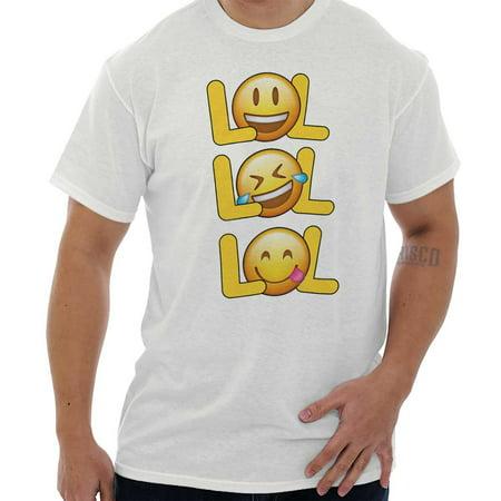 LOL Laughing Crying Emojis Funny Graphic T Shirt Tee