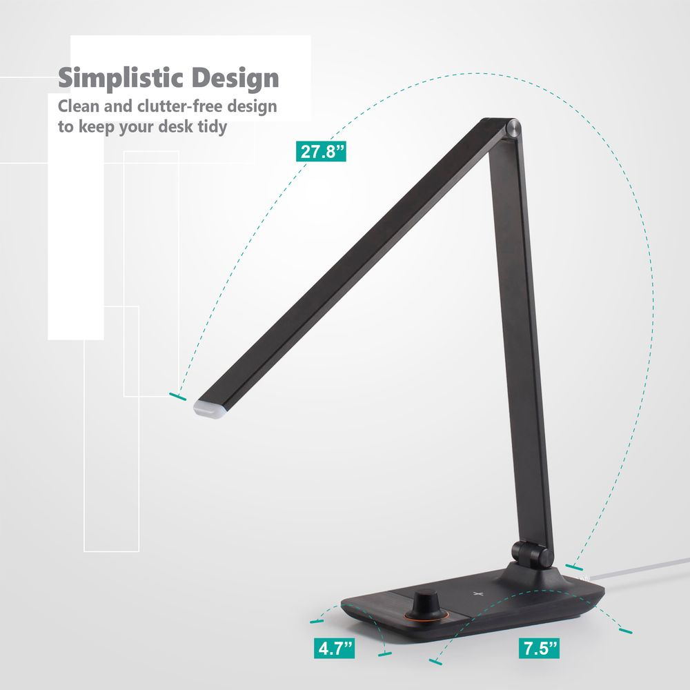 Desk Lamp Wireless Charger By Innoka Aluminum Led Table