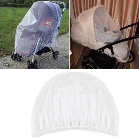 HERCHR Baby Mosquito Net for Stroller, Carriers, Car Sears, Cradles, Cribs, Bassinets & Playpens - Baby Insect Netting Bug Net for Infant Stroller - Ultra Fine Mesh Protection Against Mosquitoes Protect little ones while they spend time outdoors with the HERCHR Baby Mosquito Net for a Stroller. Flexible and stretchable, it also fits over carriers, car seats, cradles, cribs, bassinets and playpens. The fine mesh material of this stroller bug net blocks the entry of mosquitoes and other flying insects while allowing for cooling air flow. This keeps babies and toddlers safe from bites and stings while they play in the yard or the park. The mesh stroller cover is made of polyester and offers a DEET- and chemical-free insect protection option.